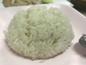 カオマンガイのだしで炊いたご飯