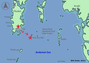 ドクマイ島までの地図