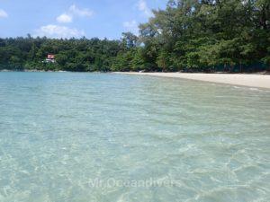 カタビーチの透明度