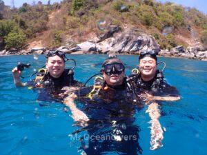 プーケットでダイビング ラチャノイ島で体験ダイビング