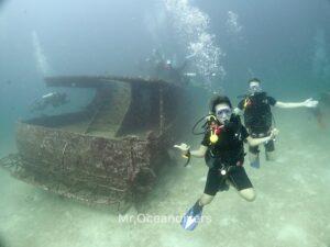 プーケットでダイビング 沈船