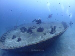 ラチャノイ島でダイビング ラチャヤイ島の沈船