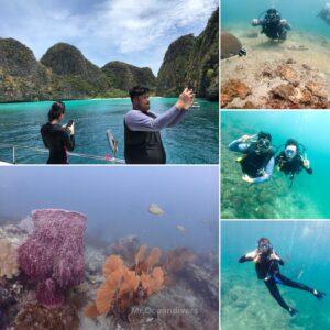 ピピ島でダイビング 今日のお客様と水中