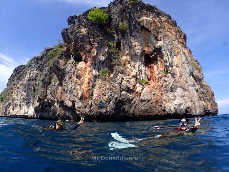 マリンパークでダイビング ドクマイ島