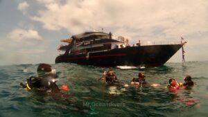ピピ島でダイビング ボートダイビング
