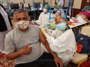 プーケットの観光地ワクチン接種