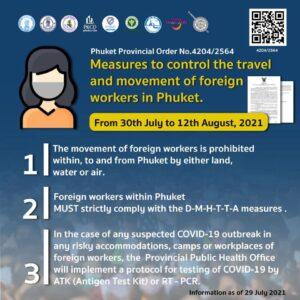 タイ・プーケットのコロナウイルス プーケットの規制